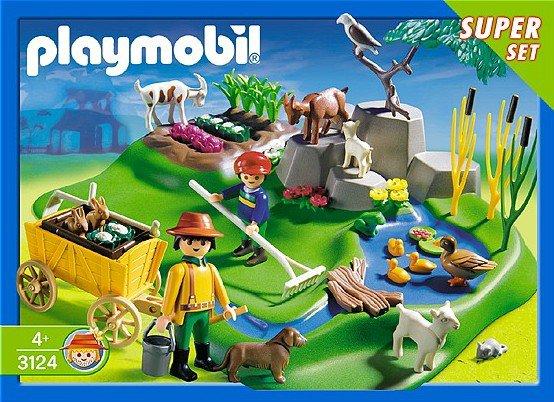 Retrouvez toutes les pièces détachées du set playmobil 3124 super set ferme