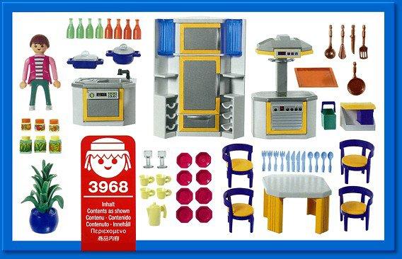 Retrouvez toutes les pièces détachées du set playmobil 3968 cuisine moderne
