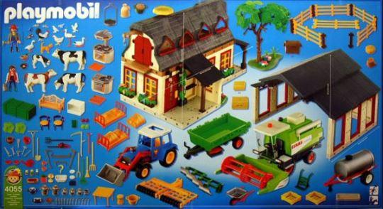 Retrouvez toutes les pièces détachées du set playmobil 4055 Mega set de la ferme