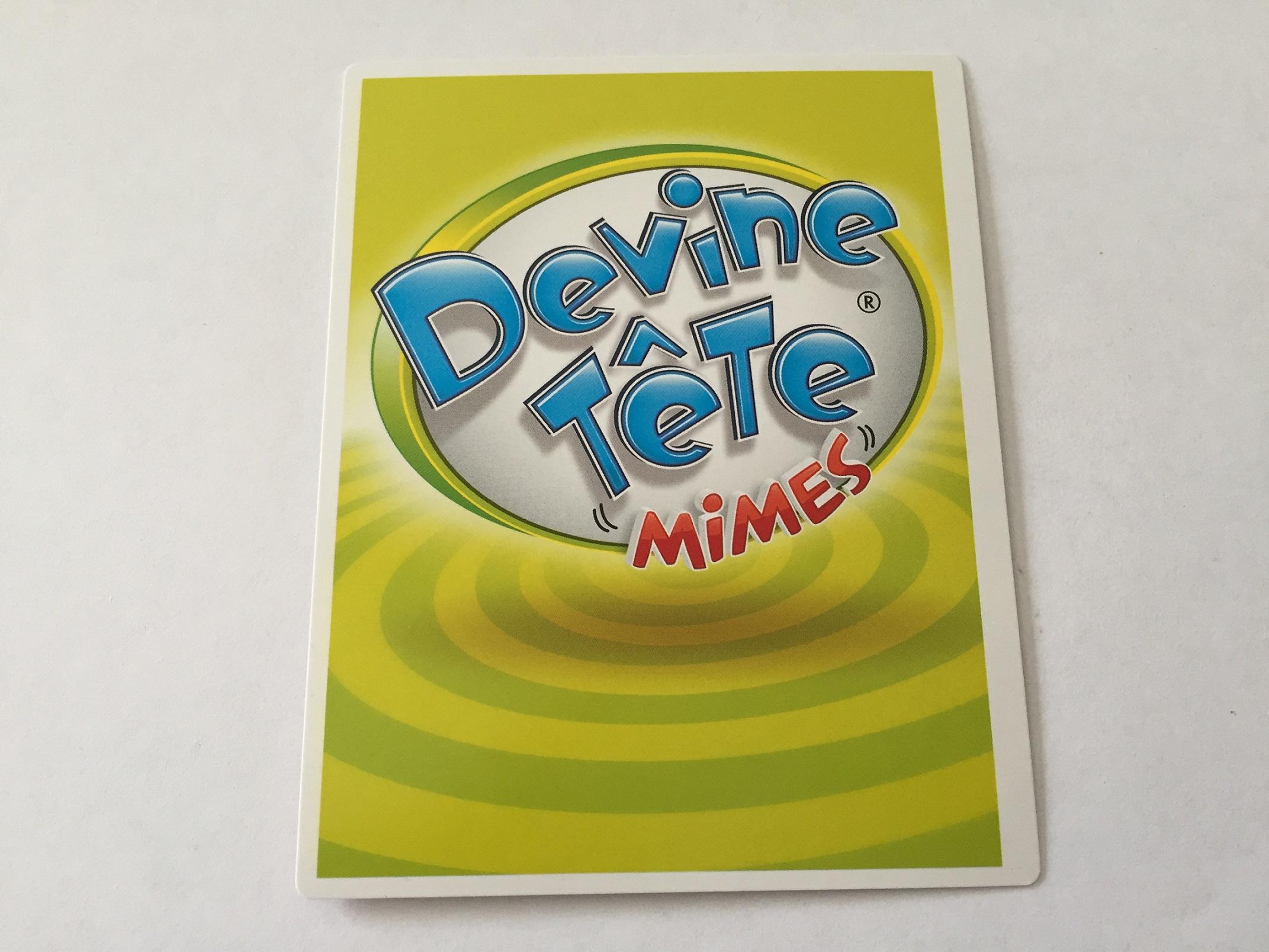 Carte pièce détachée du jeu de société Devine tête mimes la réponse est sur ma tête