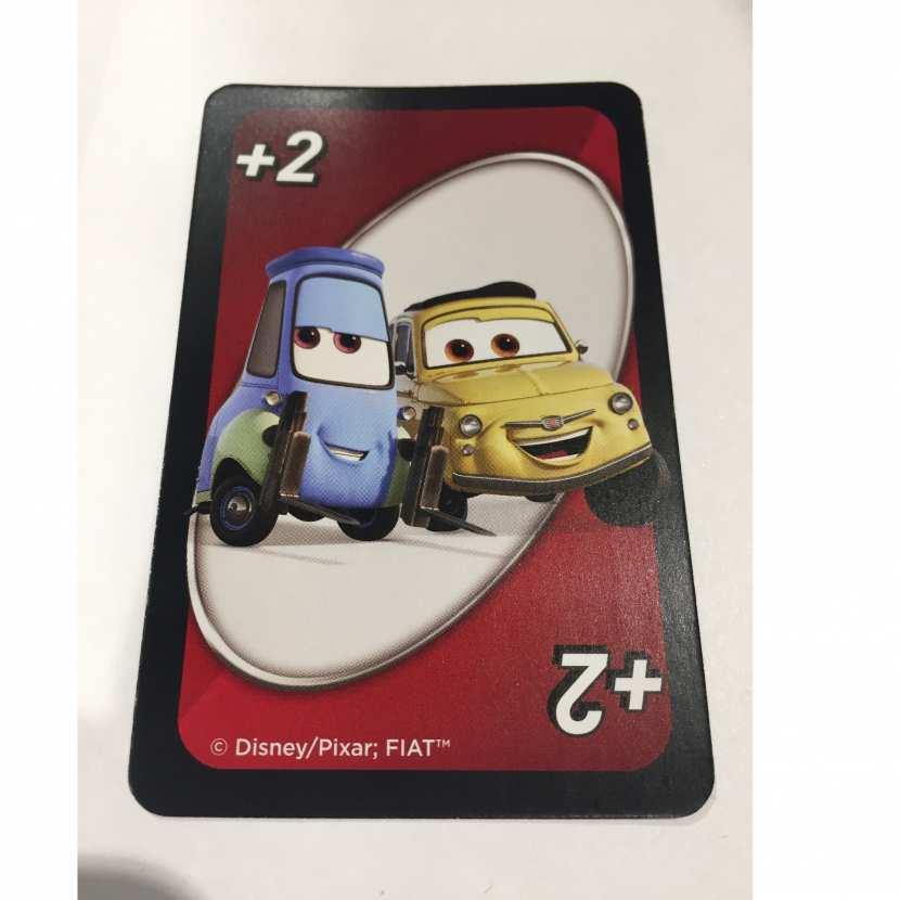 carte +2 luigi & guido pièce détachée du jeu de société Uno disney pixar cars 3 de marque mattel games