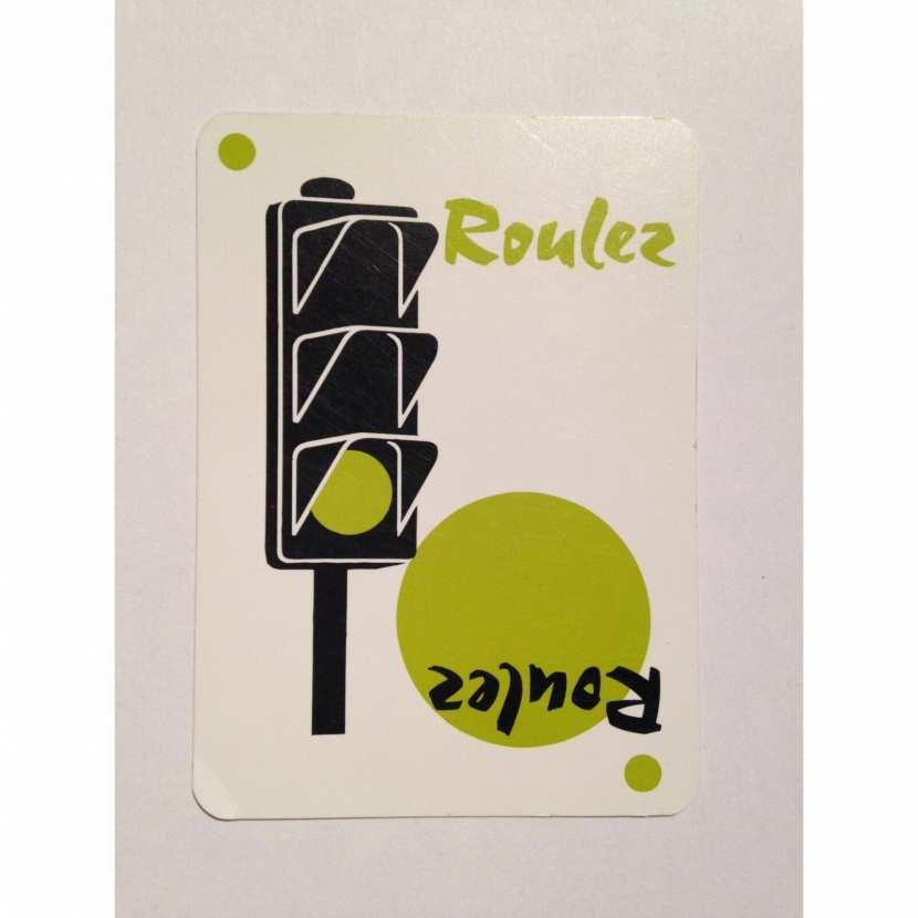 carte feu vert pièce détachée jeu de société 1000 bornes classique de la marque dujardin