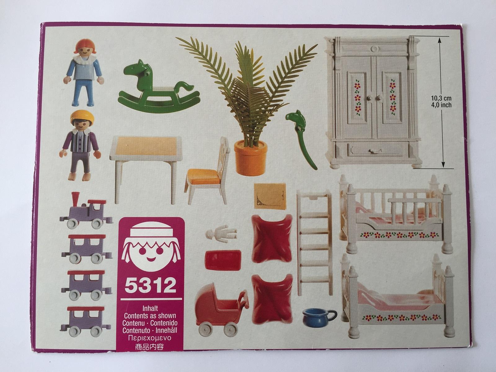 PICE DETACHEE PLAYMOBIL 5312 CHAMBRE D`ENFANT MAISON 1900