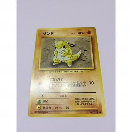 027 - Carte pokémon japonaise pocket monsters Sabelette commune set de base wizard