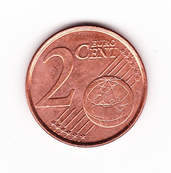 Pièce de monnaie de 2 cent centimes d`euro