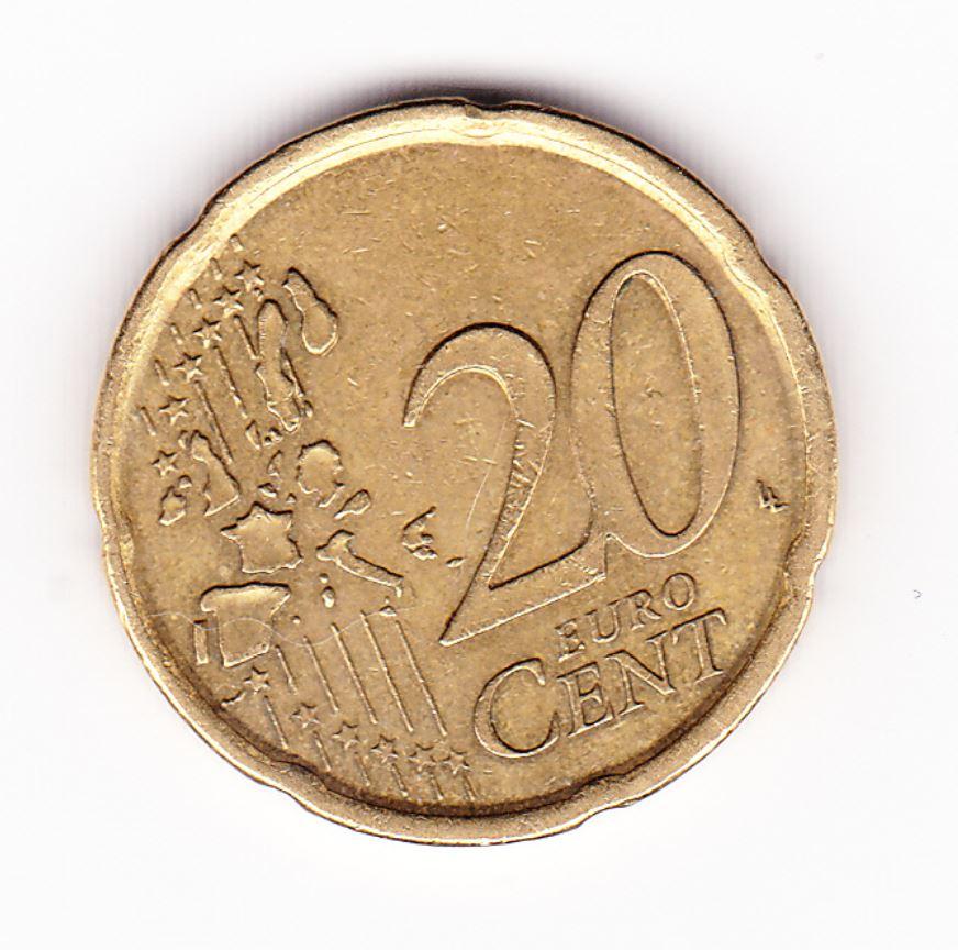 pièce de 20 cent centime d`euro