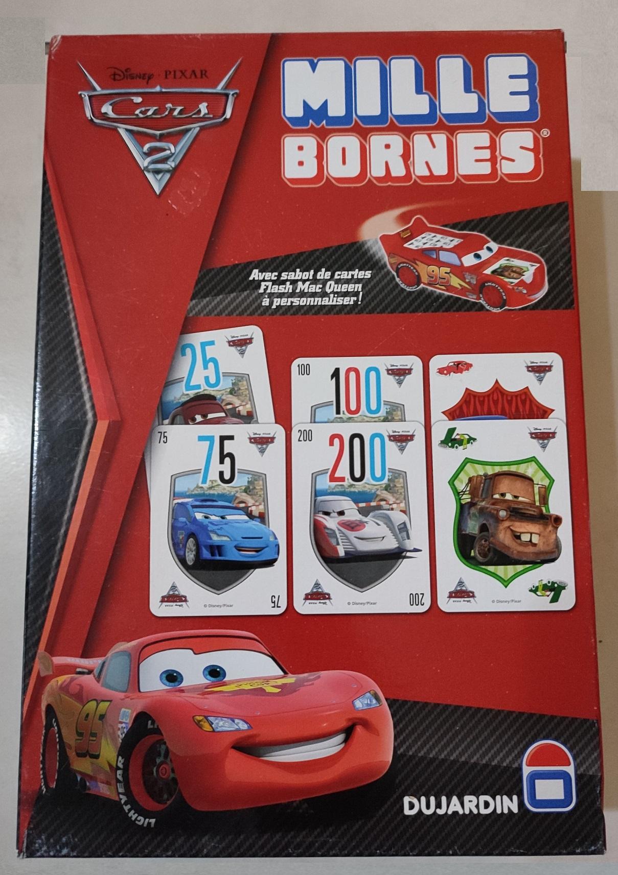 pièce détachée jeu de société 1000 mille bornes cars 2 Disney Pixar Dujardin