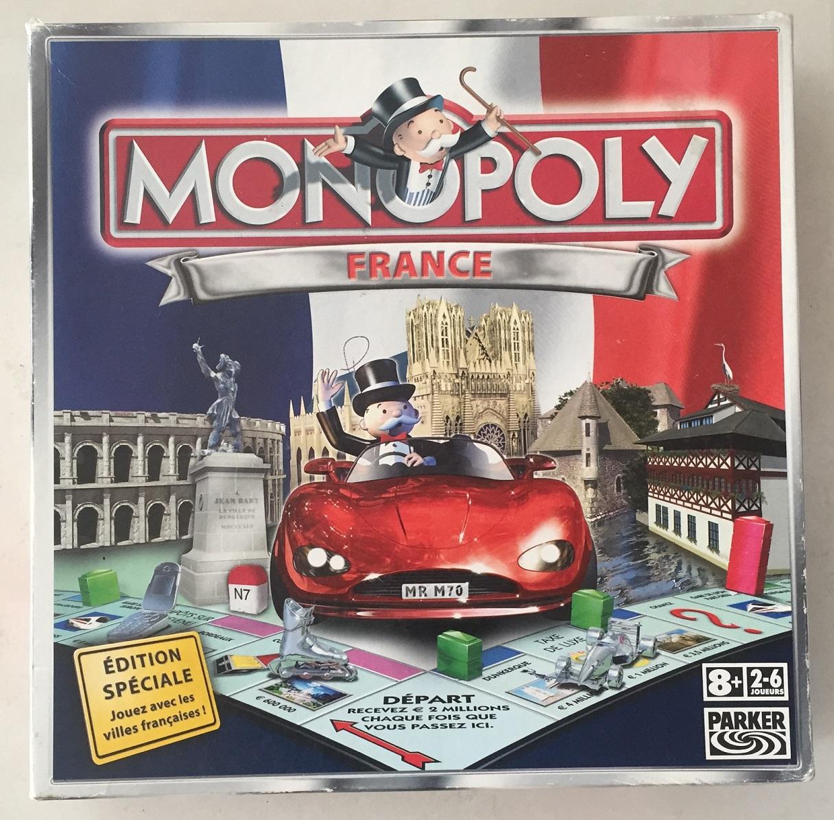 pièce détachée jeu de société monopoly France Hasbro Parker