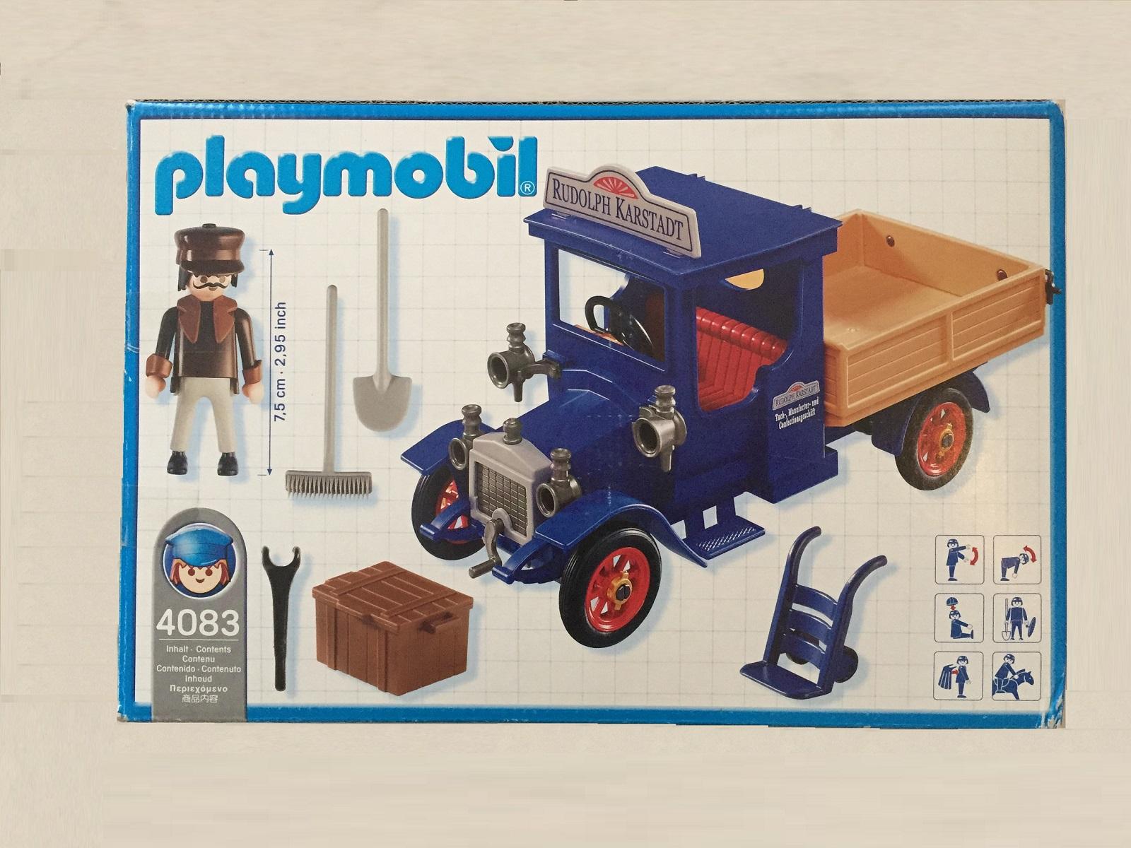 pièce détachée set Playmobil 4083 camion de livraison belle époque 1900