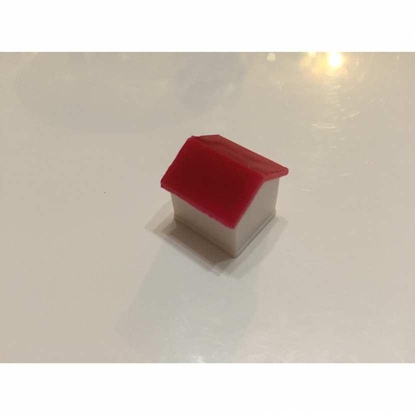 pion hôtel rouge et blanc pièce détachée du jeu de société monopoly miro parker company