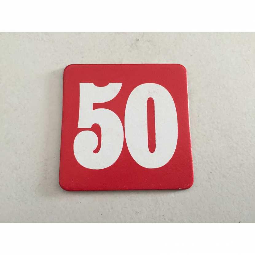 plaque de 50 pièce détachée du jeu de société le compte est bon